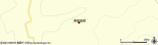 乗鞍高原周辺の地図