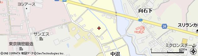 茨城県常総市中沼周辺の地図