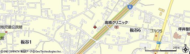 茨城県土浦市板谷周辺の地図