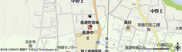 埼玉県秩父郡長瀞町周辺の地図