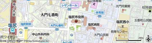 長野県塩尻市周辺の地図
