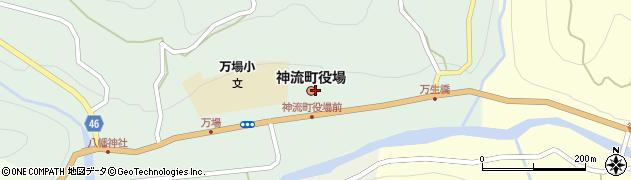 群馬県多野郡神流町周辺の地図