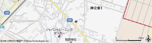 茨城県土浦市神立東周辺の地図