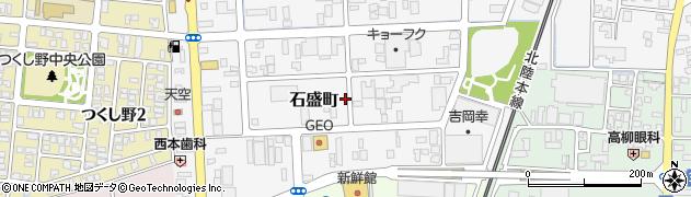 福井県福井市石盛町周辺の地図