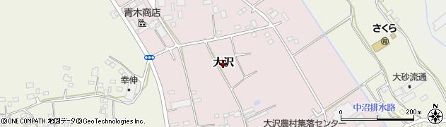 茨城県常総市大沢周辺の地図