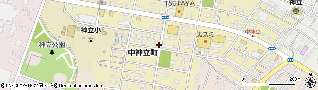 茨城県土浦市中神立町周辺の地図