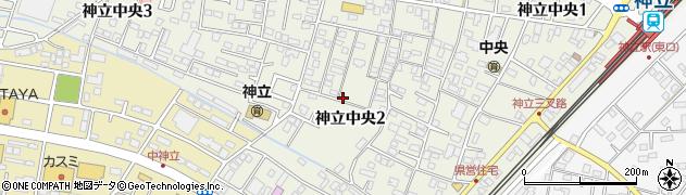 茨城県土浦市神立中央周辺の地図