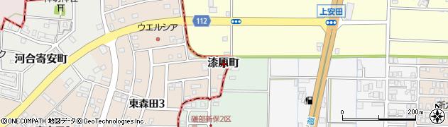 福井県福井市漆原町周辺の地図