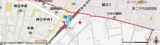 香取駐車場周辺の地図