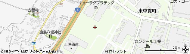 茨城県土浦市東中貫町周辺の地図