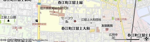 福井県坂井市春江町江留上大和周辺の地図