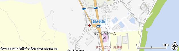 福井県福井市剣大谷町周辺の地図