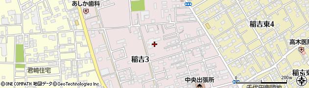茨城県かすみがうら市稲吉周辺の地図