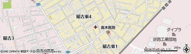 茨城県かすみがうら市稲吉東周辺の地図