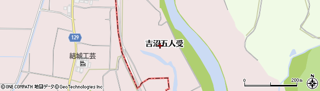 茨城県つくば市吉沼五人受周辺の地図