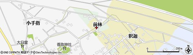 茨城県五霞町(猿島郡)前林周辺の地図