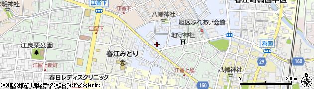 福井県坂井市春江町江留下周辺の地図