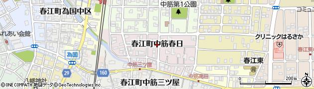 福井県坂井市春江町中筋春日周辺の地図