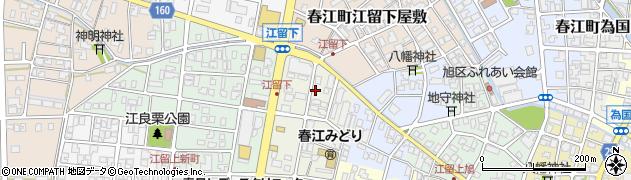 福井県坂井市春江町江留下宇和江周辺の地図