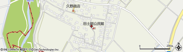 茨城県土浦市田土部周辺の地図