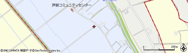 茨城県八千代町(結城郡)芦ケ谷新田周辺の地図