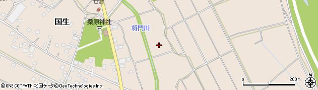 茨城県常総市国生周辺の地図