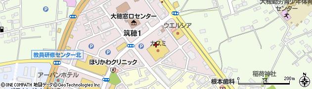 株式会社カスミ 大穂店周辺の地図