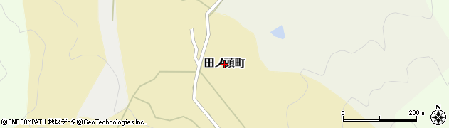福井県福井市田ノ頭町周辺の地図