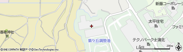 茨城県土浦市紫ケ丘周辺の地図