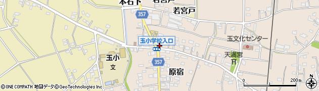茨城県常総市原宿周辺の地図