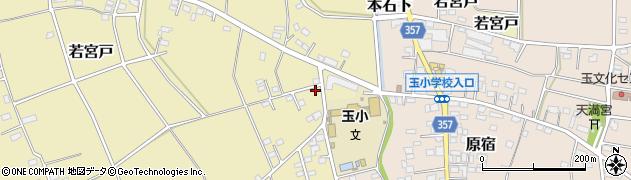 茨城県常総市若宮戸周辺の地図