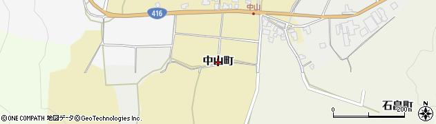 福井県福井市中山町周辺の地図