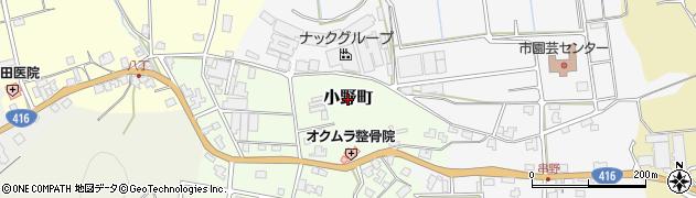 福井県福井市小野町周辺の地図