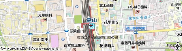 岐阜県高山市周辺の地図