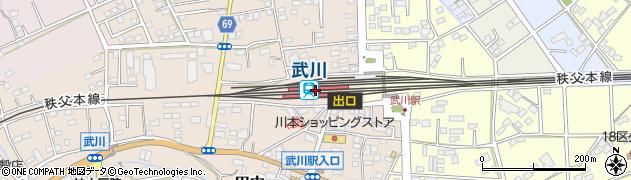 埼玉県深谷市周辺の地図