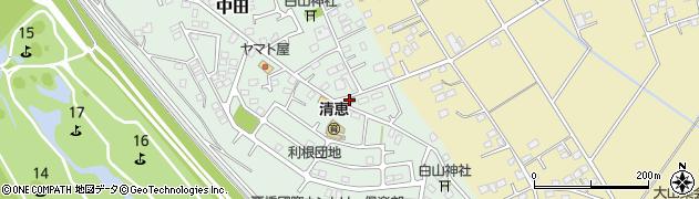 古河市役所 古河地区中田集会所周辺の地図