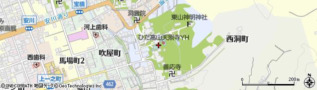 天照寺周辺の地図