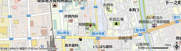 飛騨国分寺周辺の地図
