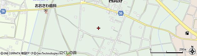 茨城県つくば市西高野周辺の地図