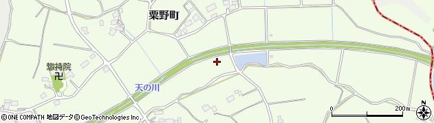茨城県土浦市粟野町周辺の地図