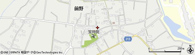 茨城県つくば市前野周辺の地図