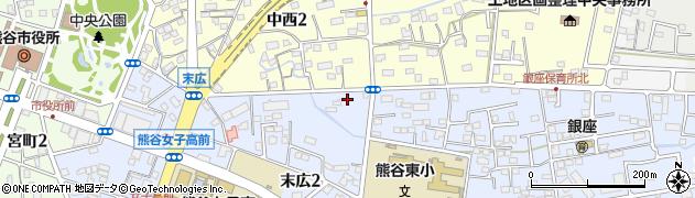 日本生命東熊谷荘周辺の地図