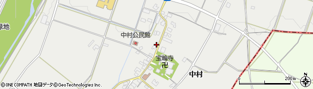 長野県松本市今井(中村)周辺の地図