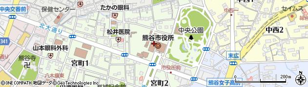埼玉県熊谷市周辺の地図