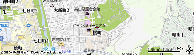 相應院周辺の地図