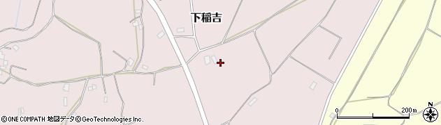 茨城県かすみがうら市下稲吉周辺の地図