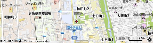 飛騨総社周辺の地図