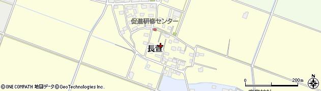 茨城県下妻市長萱周辺の地図