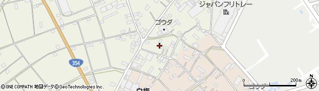 茨城県古河市釈迦周辺の地図