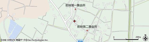 茨城県古河市前林周辺の地図